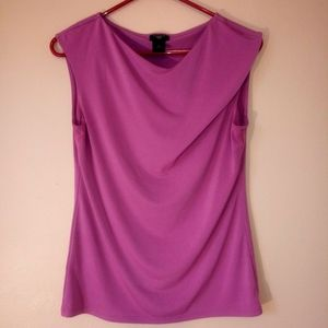 Ann Taylor Women's M/P Purple Sleeveless Blouse
